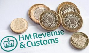 HMRC Letter Header with Coins