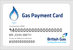 British Gas Payment Card