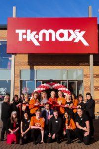 TK Maxx (staff outside)