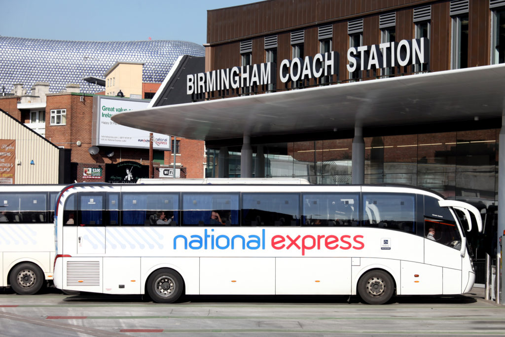 National Express Head Office with Coach Outside