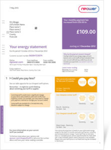 Npower: Example Energy Bill