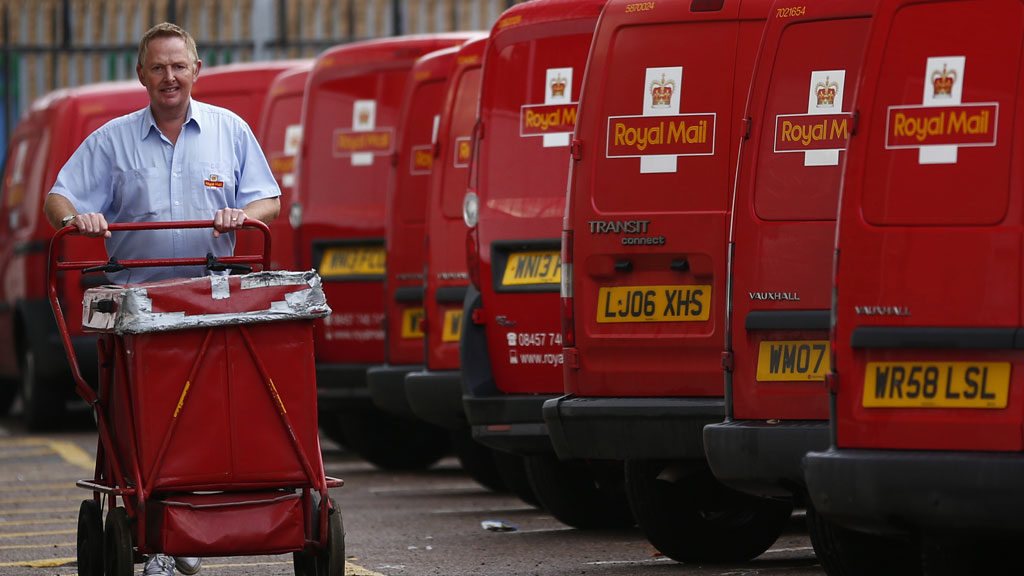 Royal Mail Vans with Postman