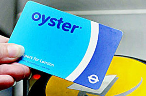 TFL Oyster Card with Reader