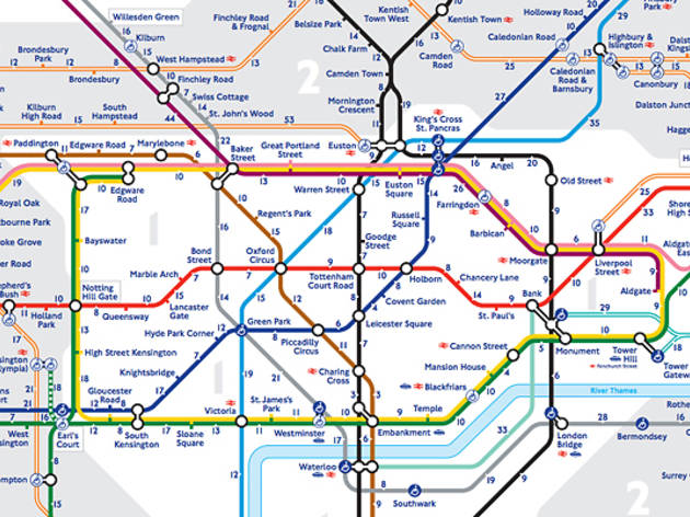 TFL Tube (underground) Map