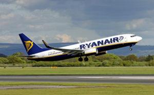 Ryanair Plane at Take-off