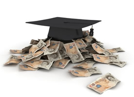 Student Finance (mortarboard & money)