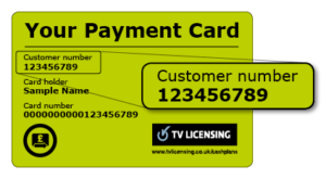 TV Licence Payment Card