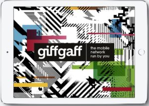 Giffgaff Tablet Branding