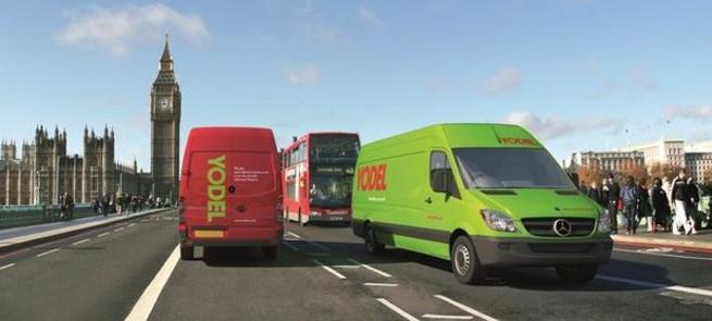 Yodel Vans in London