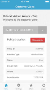 Ceta Insurance Customer Zone App
