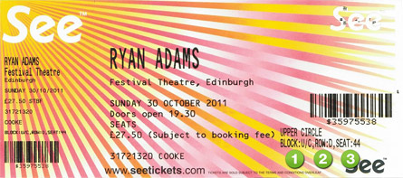 See Tickets Ryan Adams
