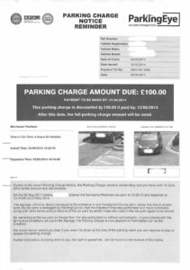 ParkingEye Payment Notice